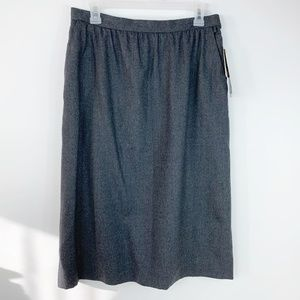 JH Collectibles Gray Size 16 Career Wool Skirt NWT